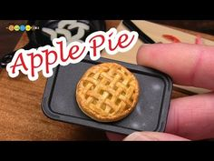 DIY Miniature Apple Pie (Fake food) ミニチュアアップルパイ作り - YouTube