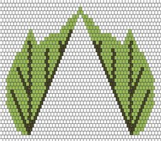 Flat leaves = vein beads same size; Seed Bead Flowers, Beaded Flowers, Peyote Patterns, Beading Patterns, Free Beading Tutorials, Flower Outline, Beading Techniques, Beaded Jewelry Patterns, Leaf Shapes