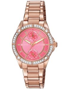 Citizen Ladies Crystal DRIVE POV Eco-Drive - Coral Pink Dial - Rose Gold-Tone