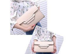 Soft PU Medium with Envelope Pattern Evening Bags