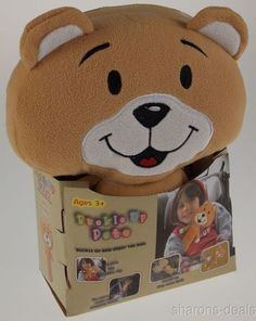 Buckle Up Pets Billy Bear Kid Baby Cuddle Pocket Seat Belt Toy Cushion Plush NEW