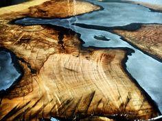 "Wood Casting table by Radek Michalowski HERNSTAG (@hernstag) on Instagram: ""Fireborn project. #fireborn #wood #timber #woodwork #woodcasting #firecasting #aluminumcasting…"""