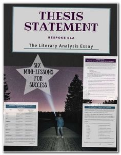 How To Write A Proposal Essay Outline This Lesson Contains A Stepbystep Guide For How To Write A Thesis  Statement For The Literary Analysis Essay It Is A Part Of Our Mega Lit Health Care Reform Essay also Topics For High School Essays Developing A Thesis Statement Powerpoint  Schoolela  Pinterest  Thesis Statement Examples For Narrative Essays