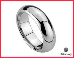 Tungsten wedding band Men Tungsten carbide ringFREE by StellarRing