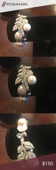 Hand made  bracelet. Bijoux luxury Real big water pearl bracelet.  Unique design Jewelry Bracelets