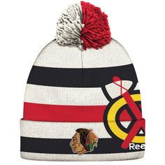 5fc442ef9b187 Chicago Blackhawks Reebok Youth 2017 Winter Classic Players Cuffed Knit Hat  - Red