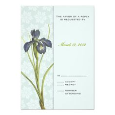 Discount DealsBlue Iris Floral Wedding Invitation RSVP 2you will get best price offer lowest prices or diccount coupone