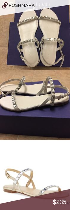 New Stuart Weitzman Embellished Flat Sandal New with box Stuart Weitzman Embellished Flat Sandal. Size 7,5 Stuart Weitzman Shoes