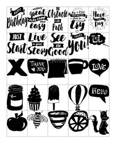 Free Printable-Black & White Stickers for your Planner