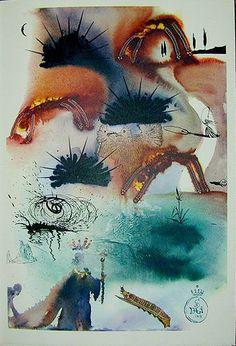Ilustraciones que Salvador Dali hizo para una edicion de Alicia en el Pais de las Maravillas datan de 1969...