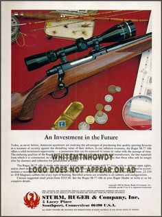 1981 RUGER M-77 RIFLE Ad Original Advertising : Gun Posters, Catalogs & Flyers at GunBroker.com