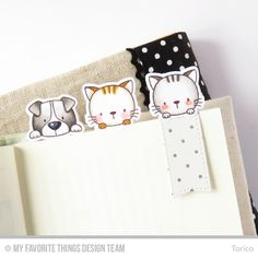 STAMPARADISE: Kitty and Puppy Bookmarks : MFT Release Replay