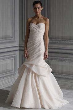 Once Worn Wedding Dress:  Monique Lhuillier Peony | Many sellers have dresses in perfect condition and a few alterations can add your personal touch.