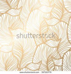 Damask floral pattern. Royal wallpaper. illustration.  Gold leaf background.