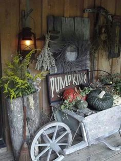 Decorating With Pumpkins And Antiques For Fall