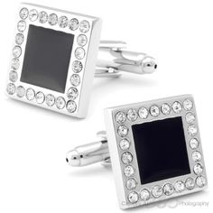 Diamond Encrusted Cufflinks, Black Friday Sale | Cufflinksman