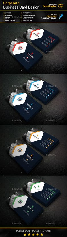 Corporate Business Card Design Template PSD. Download here: http://graphicriver.net/item/corporate-business-card-design/15716758?ref=ksioks