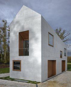 Two in one family House - Geneva, Switzerland   house . Haus . maison   Architect: Clavienrossier Architectes  