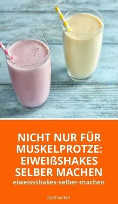Make protein shakes yourself: how it works! Eiweißshakes selber machen: So geht's! Not only for muscle sports: make protein shakes yourself eatsmarter. Low Carb Shakes, Best Protein Shakes, Protein Shake Recipes, Smoothie Recipes, Smoothie Detox, Healthy Diet Tips, Healthy Protein, Protein Foods, Healthy Food