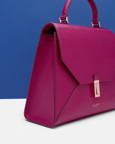 Top handle leather bag - Grape | Bags | Ted Baker UK