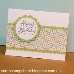 """Make 5 cards in 5 minutes! Check out my """"Five-in-Five"""" idea on my Blog at http://scrapstampshare.blogspot.com.au/2015/08/zoe-blog-hop.html and then join in the fun of the Zoe Blog Hop!"""