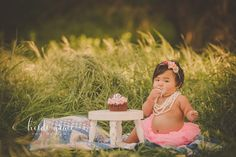 First birthday photo session. Cake smash one year birthday session by Heidi Grace Photography