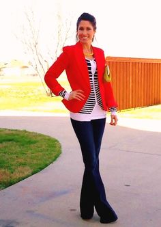 thats a bright red blazer but I like it
