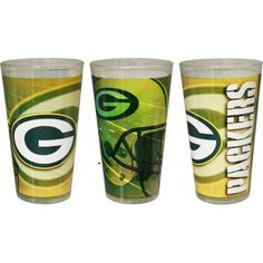Green Bay Packers Shadow Pint Glass!  Show your allegiance every time you take a sip with this officially licensed pint glass. This pint glass from Boelter Brands holds approximately 16 ounces and displays your favorite team in a quality design. Handwash recommended!  Available for  $16.99! Green Bay Packers Merchandise, Pint Glass, Design, Beer Glassware