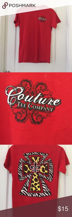 Red t shirt Couture Tee company shirt. Tops Tees - Short Sleeve