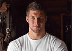 Tim Tebow--my favorite professional athlete! He is an enthusiastic Christian guy who is a great role model...a genuinely good guy.