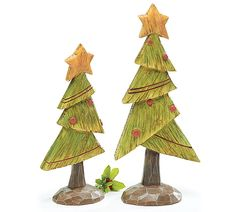 Add these adorable trees to your Holiday decorations! #trees #holiday