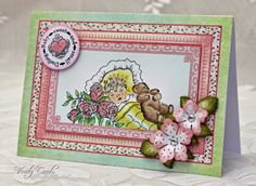 Card made by Liz Walker using Heartfelt Creations Sweet Lullaby Collection.