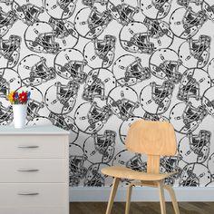 Papel de parede adesivo futebol americano - StickDecor | Decoração Criativa