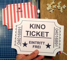 Welcome to the Movies ! – Make your own cinema voucher – HELLO MiME! Diy Gifts To Make, Diy Gifts For Friends, Diy Gifts For Kids, Presents For Kids, Diy Birthday, Birthday Presents, Birthday Cards, Birthday Ideas, Diy Gifts For Christmas