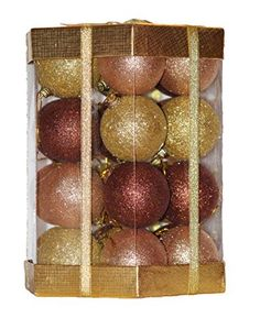 Christmas Ball Ornaments Set Boxed Glitter / Sequin 28 Count (Amber Brown / Rose Gold / Gold Glitter Mix), http://www.amazon.com/dp/B00A1SEKMU/ref=cm_sw_r_pi_awdm_a20Qub0Y570KW