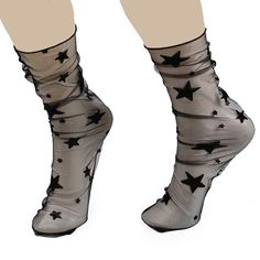 SHARE & Get it FREE | Star or Snowflake Jacquard Loose Sheer Lace SocksFor Fashion Lovers only:80,000+ Items • New Arrivals Daily • Affordable Casual to Chic for Every Occasion Join Sammydress: Get YOUR $50 NOW!