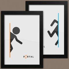 Portal Print Set Of 2 2 x Portal 2 Posters Framed by CEEDdesigns, £26.99