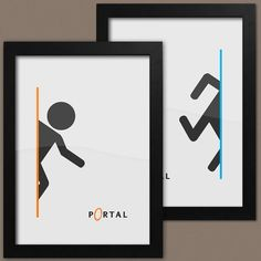 Portal Print Set Of 2, 2 x Portal 2 Posters, Framed A3 Video Game Posters on Etsy, $46.03
