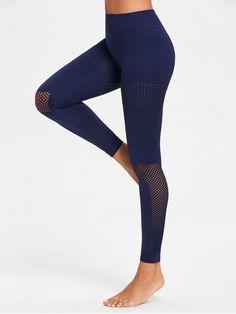 cfa7d13fa6abc0 Sculpt Perforated Sports Leggings - NAVY BLUE L Sports Leggings, Women's  Leggings, Leggings Are