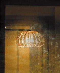 Amber version of the Diamante of the Murano Glass Italian pendants.