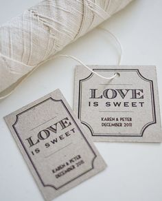 Love is Sweet  Printable Favor Tags by ThreeEggsDesign on Etsy, $8.00