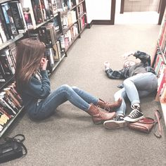 Going to the bookstore with your best friend...