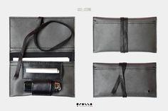 Portatabacco in Eco-pelle made in Italy, porta sigarette, astuccio in finta pelle, vintage pochette, grigio nero