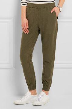 NLST | Cotton and hemp-blend track pants | NET-A-PORTER.COM