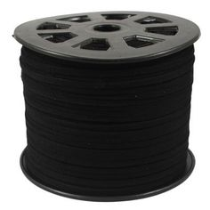 Five Season 1 Yard Faux Suede Cord, Black, 3mm wide 1.5mm thick For DIY Jewelry Making >>> Click image to review more details.