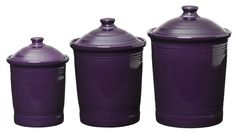 Amazon.com: HLC Fiesta Set of Small, Medium, and Large Kitchen Containers, Plum: Home & Kitchen