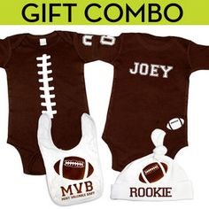 Baby Boy Sets - Psychobaby Football Gift Combo