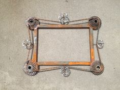 bike chain and cassette frame