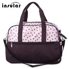 Just US$15.55, buy Insular Multifunctional Waterproof Heart Printed Baby Diaper Bag Mummy Handbag online shopping at GearBest.com Mobile.