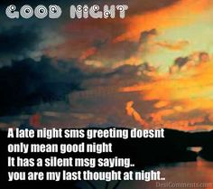 sms for goodnight